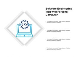 Software Engineering Icon With Personal Computer