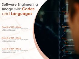 Software Engineering Image With Codes And Languages