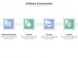 Software Environment Ppt Powerpoint Presentation Portfolio Tips Cpb