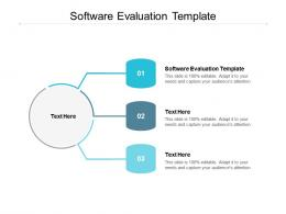 Software Evaluation Template Ppt Powerpoint Presentation File Show Cpb