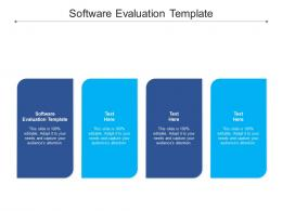 Software Evaluation Template Ppt Powerpoint Presentation Icon Slides Cpb