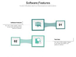 Software Features Ppt Powerpoint Presentation Show Graphics Design Cpb