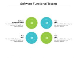 Software Functional Testing Ppt Powerpoint Presentation Gallery Slide Download Cpb