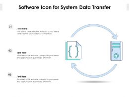 Software Icon For System Data Transfer