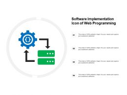 Software Implementation Icon Of Web Programming