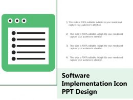 Software Implementation Icon Ppt Design