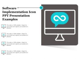 Software Implementation Icon Ppt Presentation Examples