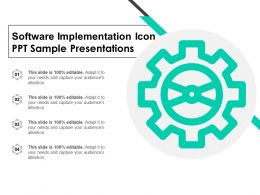Software Implementation Icon Ppt Sample Presentations