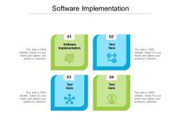 Software Implementation Ppt Powerpoint Presentation Portfolio Slide Cpb