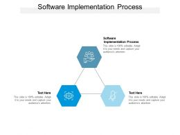 Software Implementation Process Ppt Powerpoint Presentation Slides Templates Cpb