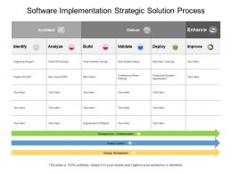 Software Implementation Strategic Solution Process