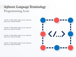 Software Language Terminology Programming Icon
