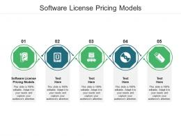 Software License Pricing Models Ppt Powerpoint Presentation Infographics Summary Cpb