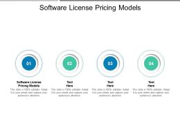 Software License Pricing Models Ppt Powerpoint Presentation Outline Files Cpb