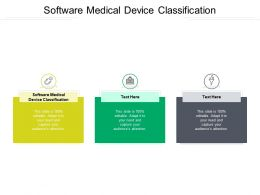 Software Medical Device Classification Ppt Powerpoint Presentation Layouts Themes Cpb