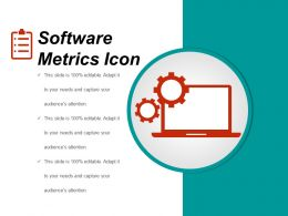 Software Metrics Icon Ppt Background Template