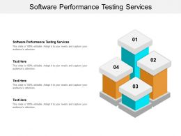 Software Performance Testing Services Ppt Powerpoint Presentation File Designs Cpb