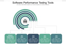 Software Performance Testing Tools Ppt Powerpoint Presentation File Layout Cpb