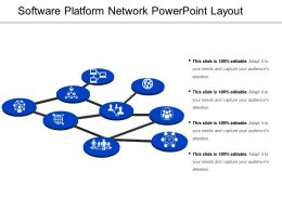 Software Platform Network Powerpoint Layout