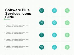 Software Plus Services Icons Technology A355 Slide Ppt Powerpoint Presentation Slides Guide
