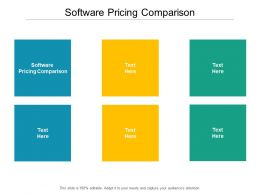 Software Pricing Comparison Ppt Powerpoint Presentation Infographic Cpb