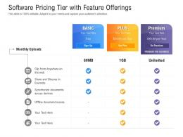Software Pricing Tier With Feature Offerings