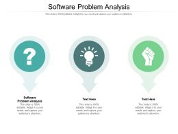 Software Problem Analysis Ppt Powerpoint Presentation Model Backgrounds Cpb