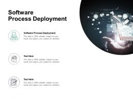 Software Process Deployment Ppt Powerpoint Presentation Layouts Graphics Pictures Cpb