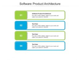 Software Product Architecture Ppt Powerpoint Presentation Icon Cpb