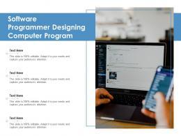 Software Programmer Designing Computer Program