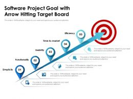 Software Project Goal With Arrow Hitting Target Board