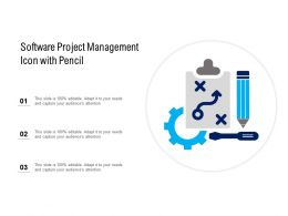 Software Project Management Icon With Pencil