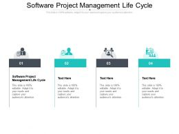 Software Project Management Life Cycle Ppt Powerpoint Icon Template Cpb