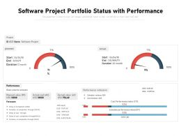 Software Project Portfolio Status With Performance