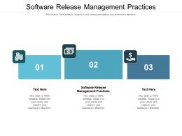 Software Release Management Practices Ppt Powerpoint Presentation Example Cpb