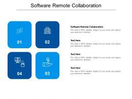 Software Remote Collaboration Ppt Powerpoint Presentation Portfolio File Formats Cpb
