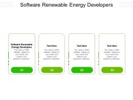 Software Renewable Energy Developers Ppt Powerpoint Presentation Infographic Template Cpb