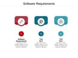 Software Requirements Ppt Powerpoint Presentation Model Templates Cpb