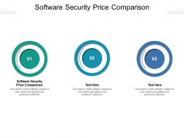 Software Security Price Comparison Ppt Powerpoint Presentation Pictures Diagrams Cpb