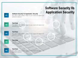 Software Security Vs Application Security Ppt Powerpoint Presentation Inspiration File Formats Cpb