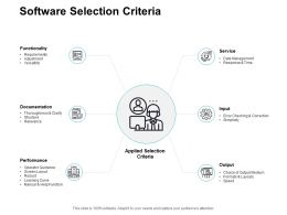 Software Selection Criteria Data Management Ppt Powerpoint Presentation Guide