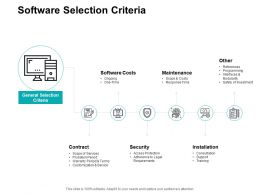 Software Selection Criteria Ppt Powerpoint Presentation Icon File Formats