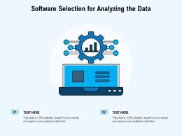 Software Selection For Analyzing The Data