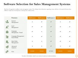 Software Selection For Sales Management Systems Suitable Ppt Powerpoint Presentation Inspiration Show