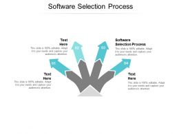 Software Selection Process Ppt Powerpoint Presentation Ideas Master Slide Cpb