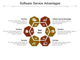 Software Service Advantages Ppt Powerpoint Presentation Outline Cpb