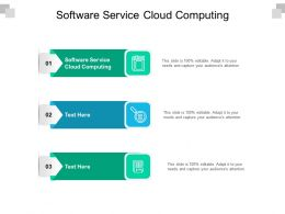 Software Service Cloud Computing Ppt Powerpoint Presentation File Microsoft Cpb