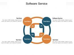Software Service Ppt Powerpoint Presentation Portfolio Slideshow Cpb