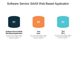 Software Service SAAS Web Based Application Ppt Powerpoint Presentation Professional Inspiration Cpb
