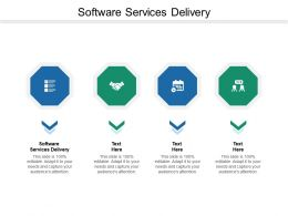 Software Services Delivery Ppt Powerpoint Presentation Summary Demonstration Cpb